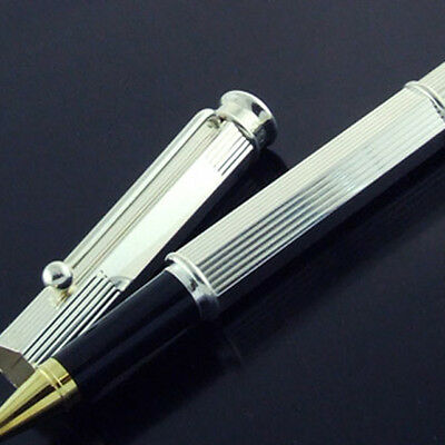 Spn3 Genuine Real 925 Sterling Silver Classic Antique Style Ballpoint Pen