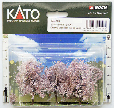 Kato 24-082 Cherry Blossom Trees 3pcs (N scale Scenery Trees) (N scale)