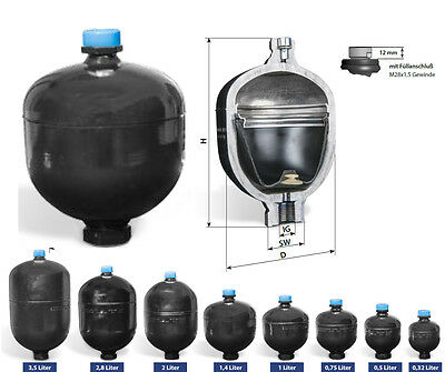 Hydraulic Diaphragm accumulator MBSP 0,32 Liter - 3,5 Liter selectable