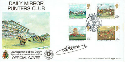 Pat EDDERY Signed Autograph First Day Cover Epsom Derby Racing FDC COA AFTAL