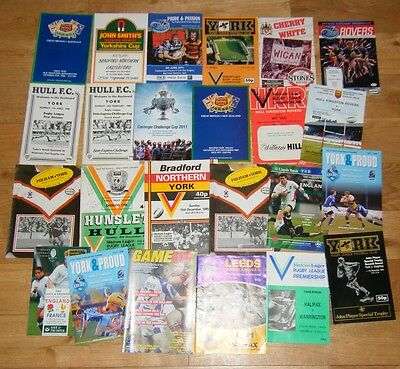 Lot Of Rugby League Programmes York Interest - Great Britain/england - Hull -