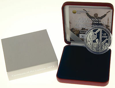 Irland 15 Euro 2013 Silber PP The Lockout