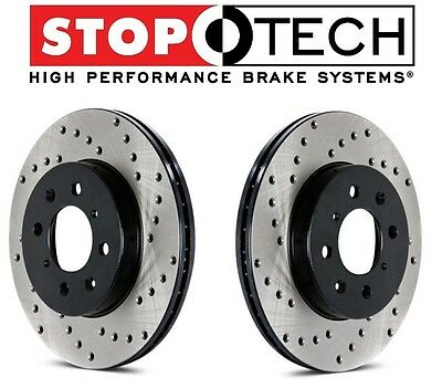For Ford Mustang StopTech Front Drilled Brake Rotors PQ Metallic Pads Set Kit