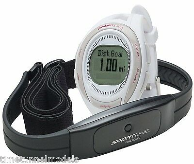 Sportline 660 Women's Cardio Heart Rate Watch, White for Exercise