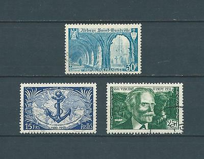 FRANCE 1951 YT 888 à 890  - TIMBERES OBL. / USED