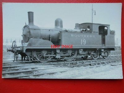 Photo  Sr Ex Lswr Class T1 Loco No 19 At Nine Elms