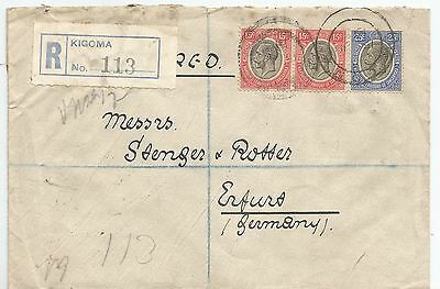 Tanganyika 1931 Cover Sent To Germany See Scans