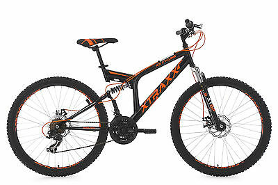 "Mountainbike Mtb Fully 26"" Xtraxx Schwarz-Orange Rh 46 Cm Ks Cycling 218M"
