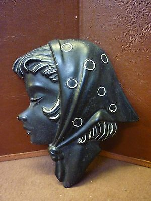 Original Vintage Duron Plaster Lady Wall Plaque (1) Please See Others Listed