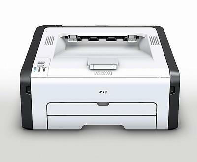 Ricoh SP211 Mono Laser A4 USB Printer Print 22ppm 2 Year Warranty