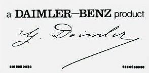 Daimler Benz Signature Windshield Decal Sticker  $7.50  For all Mercedes Models