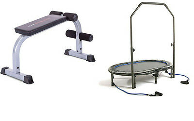 Stamina InTone Oval Jogger & CAP Strength AB Crunch Bench/Board exercise workout