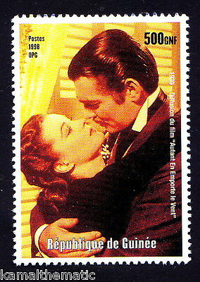 Guinea MNH, 1939 Film Gone with the Wind, actors Clark Gable, Vivien Leigh