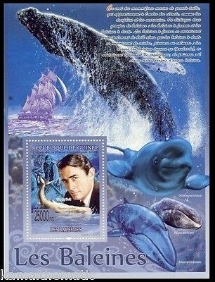 Gregory Peck American Actor, Ships, Whales, Fish, Guinee 2008 MNH SS  - M45