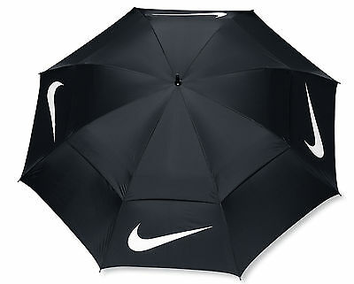"Nike Golf 68"" Windsheer Lite Umbrella Double Canopy N92248 Black/White New"