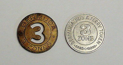 Bermuda Transportation Tokens - Zone 3 Bus and Ferry