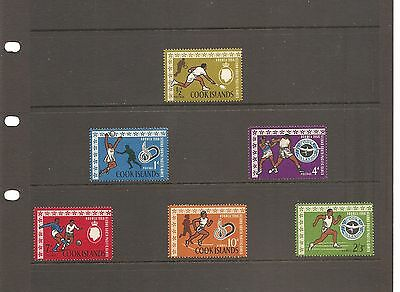 Cook Islands  South Pacific Games 1966  Mint Set