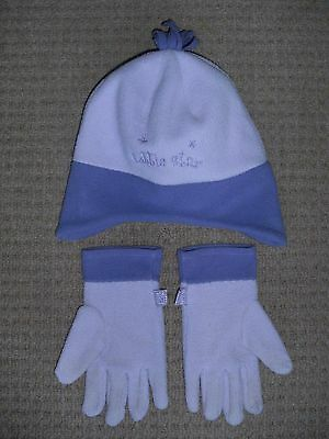 LADYBIRD Girls Polyester Lilac/Purple HAT + GLOVES SET    4-8yrs