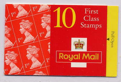 GB 1995 10 x 1st CLASS BARCODE BOOKLET HD24a