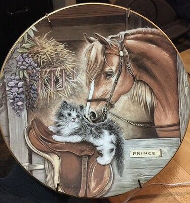 """1986 Royal Worcester Collectable Plate """"Stablemates"""" By Pam Cooper!"""