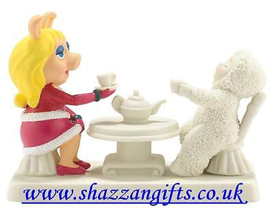 Snowbabies Miss Piggy Comes To Tea. New In Box