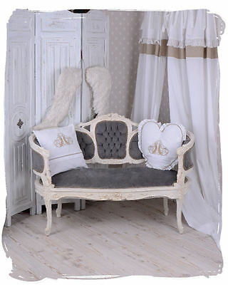 Vintage Sofa Marie Antoinette Couch Sitzbank Shabby Chic Barocksofa