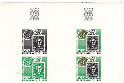 Stamps on Stamps - 1979-200fr US 10cents imperf proof block of 4 MNH