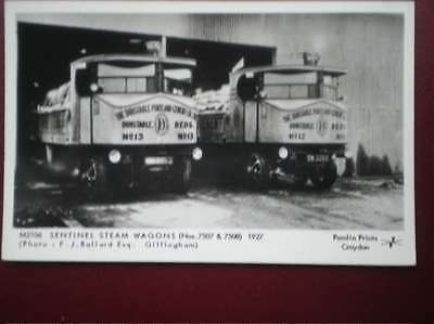 Postcard Rp  1927 - Sentinel Steam Wagons (No 7507 & 7508)
