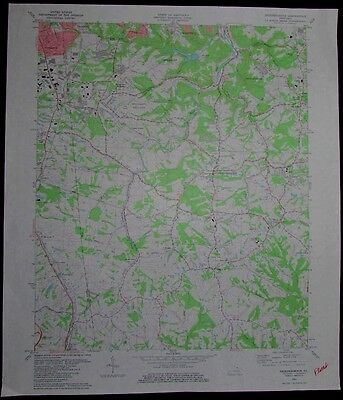 Independence Kentucky Florence vintage 1982 old USGS Topo chart