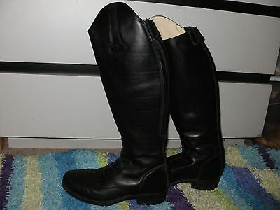 Mountain Horse Richmond Field Boot SIZE LDS 10 BLACK LEATHER ZIP BACK~SHOW READY