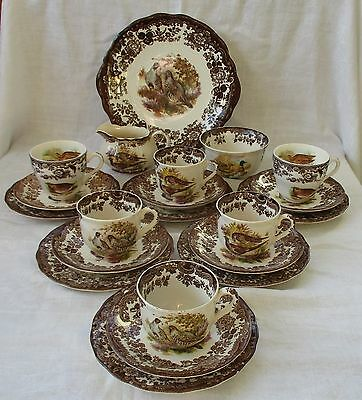 21 Piece Tea Set By Palissy (Royal Worcester Group) England - Game Series