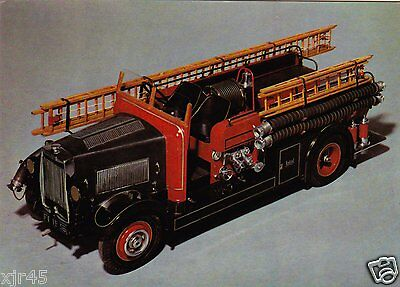 Model of a 1936 Motor Fire Engine Postcard