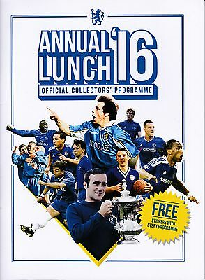 CHELSEA  Annual Lunch 2016 programme.