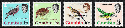 Gambia — Scott 183//205 — Qeii Birds/independence — Mh — Scv $29.85