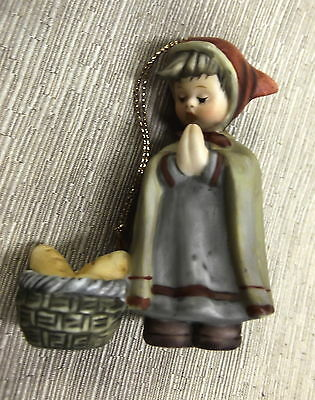Goebel Berta Hummel Peasant Girl With Basket Nativity Ornament #935092