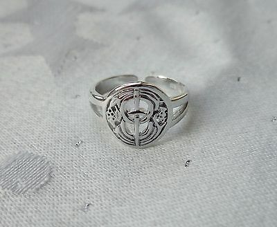 Chalice Well Toe Ring Wicca Pagan 925 Sterling Silver