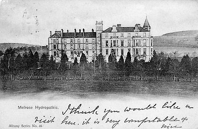 Vintage Postcard Melrose Hydropathic Hotel Albany Series Vignette 1904