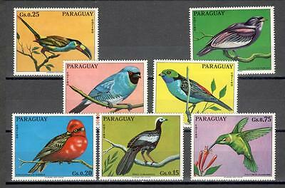 R6085A - Paraguay 1973 - Serie Completa ** Uccelli - Foto