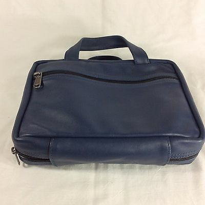 Blue Large Leather LDS Scripture Case Mormon Giant Big Quad Bible Tote Carrying