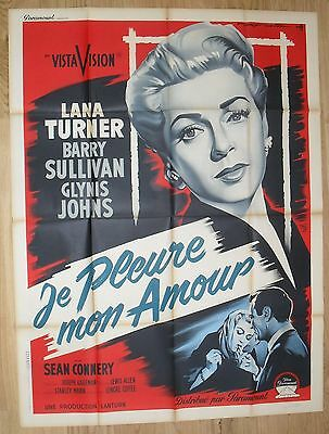 ANOTHER TIME lana turner  original french movie poster '58 SOUBIE litho