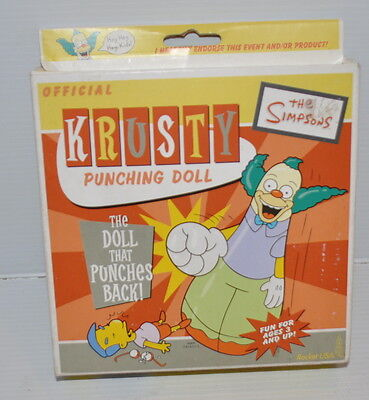 KRUSTY The CLOWN inflatable PUNCHING DOLL 2002 Rocket USA TOY The Simpsons