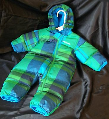 Columbia Sportswear~*Baby Snowsuit*~Quilted Blue/Navy/Green size 6 months 6m