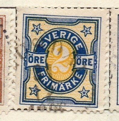 Sweden 1892 Early Issue Fine Used 2ore. 123283
