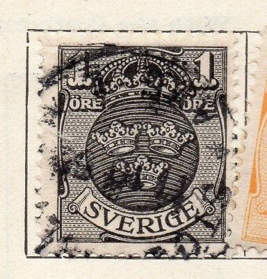 Sweden 1910-11 Early Issue Fine Used 1ore. 123294