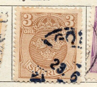Sweden 1910-11 Early Issue Fine Used 3ore. 123296