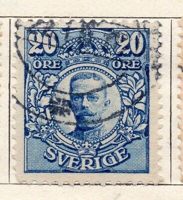 Sweden 1910-11 Early Issue Fine Used 20ore. 123302