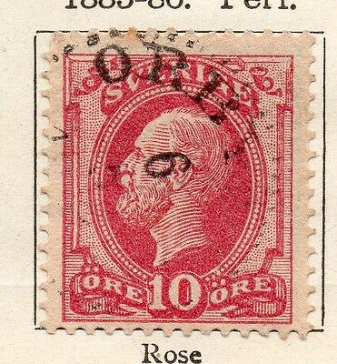 Sweden 1885-86 Early Issue Fine Used 10ore. 123314