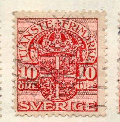 Sweden 1910 Early Issue Fine Used 10ore. Officials 123324