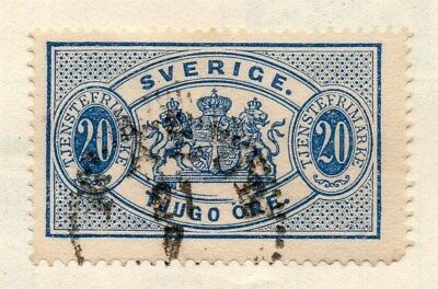 Sweden 1874-96 Early Issue Fine Used 20ore. Officials 123334
