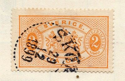Sweden 1874-96 Early Issue Fine Used 2ore. Officials 123336